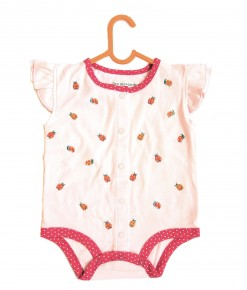 Mini Lady Bug Pink Bodysuit