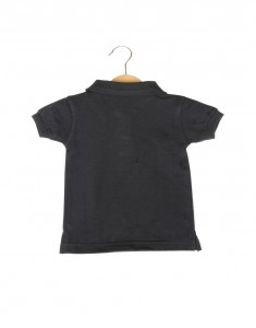 Boy Collared Tee - Black