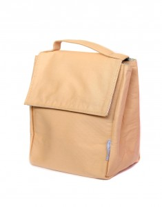 Beige Insulated Lunch Bag