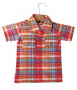 Plaid Pocket Shirt - Orange Red