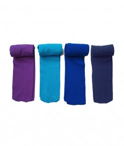 Full Feet Stocking - Purple Bue Light Blue Royal Blue Dark (1-4T)