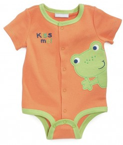 Frog Orange Green Bodysuit