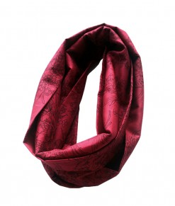 Infinite Scarf - Red Flower