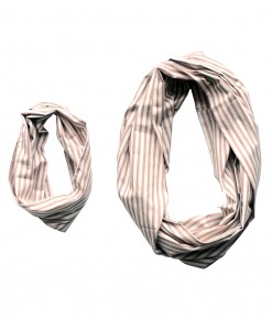 Infinite Scarf _ Stripe Beige