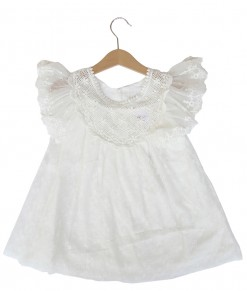 Lace Boho Dress - White