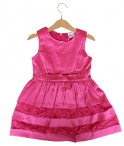 Pink Bow Lace Dress