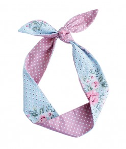 Indira Tied Headband - Blue Pink