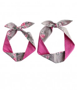 Indira Tied Headband - Brown Pink