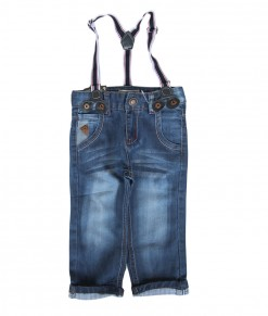Suspender Blue Light Kids Jeans