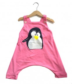 Overall Pink Penguin