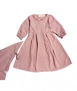 LB Gamis Pearl Dusty Pink-1