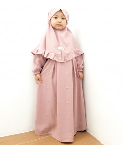 LB Gamis Pearl Dusty Pink