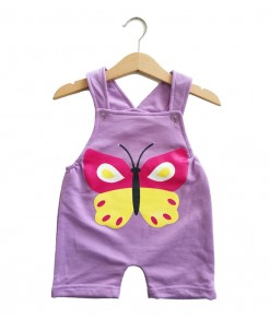 Short Overall - Purple Butterfly