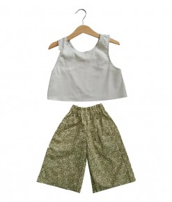 0104-1001B KUKUBELO Molly Set in Grey - Green Flower BACK