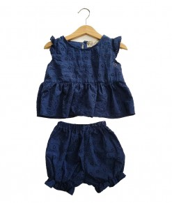 0104-999 KUKUBELO Clara Set in Darkblue Embroidery