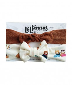 0201-201F LIL KINANS Med Set - Brown Broken White Cat
