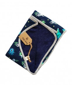0403-15B Petite Audrey Blanket - Navy Astronot