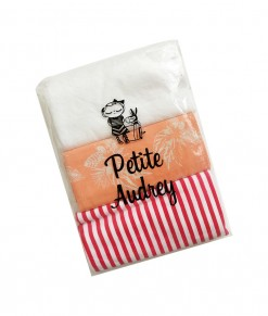 0403-16A Petite Audrey Bedong - 3 in 1 (Red striep White)