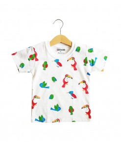 0101-1542C Parca Kids Birds White