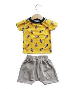 Baby set - Yellow space