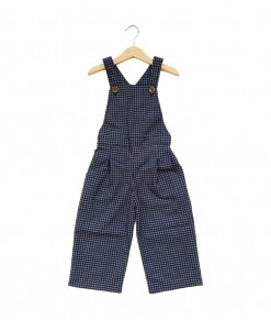 Lola Overall-Grid Navy