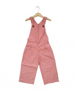 Lola Overall-Stripe Pink