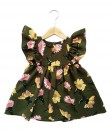 Toya dress-Green flower