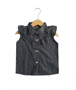 0101-1582a - azkila Sleeveless Blouse - stripe black