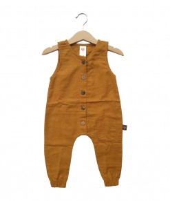 Bumi mustard playsuit
