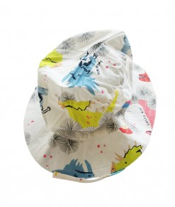 Dino bucket hat - white