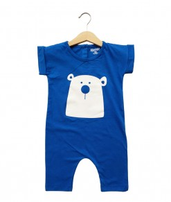 Mimo Playsuit - Blue Bear