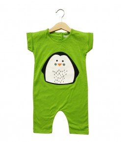 Mimo Playsuit - Green Penguin