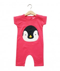 Mimo Playsuit - Pink Penguin