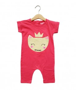 Mimo Playsuit - Pink Queen cat