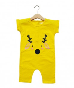 Mimo Playsuit - Yellow Deer