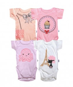 Kazel Baby Girl Bodysuit 4in1