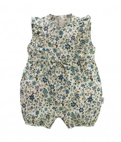 I am cotton romper tosca flower