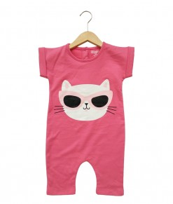 Mimo Playsuit - Pink cat