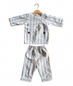 Reyan set in blue stripe