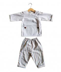 Reyan set in red blue stripe