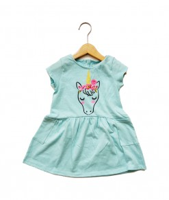 Mimo Dress - Blue sky unicorn