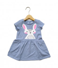 Mimo Dress - Medium blue mouse deer