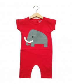 Mimo Playsuit - Red elephant