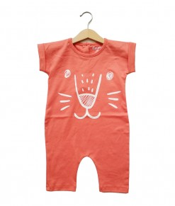 Mimo Playsuit - Salmon lion face