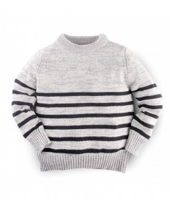 Hellomici - Knitwear stripe - grey2