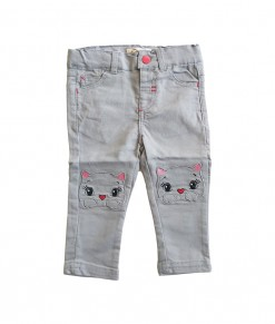 I Am Cotton - Long Pants Twill Cat Grey