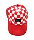 Tofftop - checker hat - red