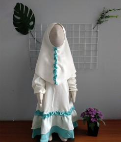 Gamis Delisha - White Blue-3